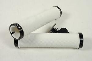 Velo Mountain Bike Locking Lock-On Handlebar Bar Grips White