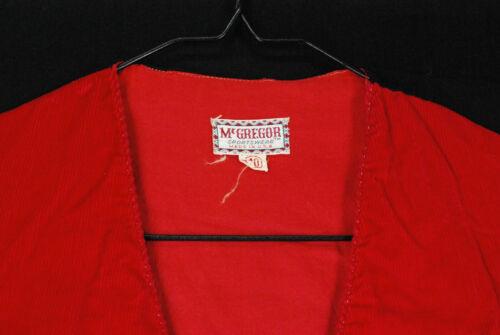 Vintage 60s McGregor Red Corduroy Cotton Vest Mens 40 Small Rockabilly