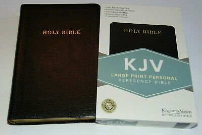 KJV Bible Large Print Black Bonded Leather Cover King James Version BRAND NEW!!!