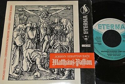 J.S.BACH Matthäus-Passion RAMIN, SEEFRIED / DDR SP 1960 ETERNA 520090