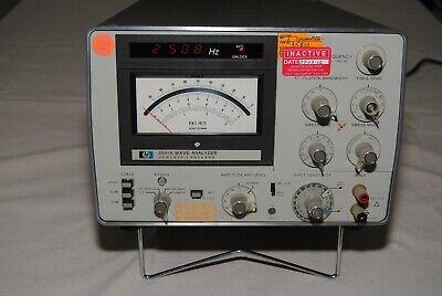 Hp 3581a Wave Analyzer Audio Test Distortion Measurement Works
