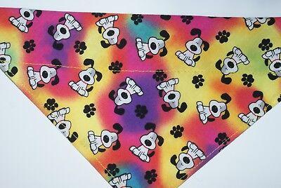 Dog Bandana, OVER THE COLLAR,clothes, pet, Size S,M,L,XL, Tie Dye Pups!