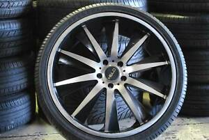 4 SET 22'' SPORT ALLOY WHEELS COMMODORE WITH TYRES   GOOD CONDITION Virginia Brisbane North East Preview