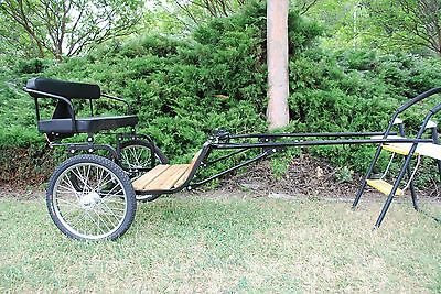 "New Easy Entry Horse Cart - Mini Size/Hardwood Floor - With 48""/55"" Shafts - NIB"