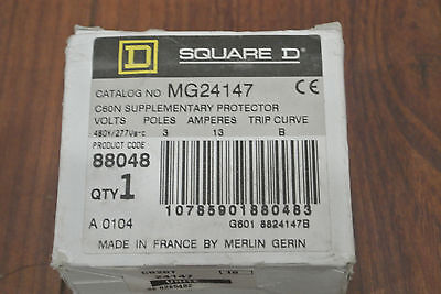 Square D Mg24147 Supplementary Protector 480y277v 13a 3p.new In Box