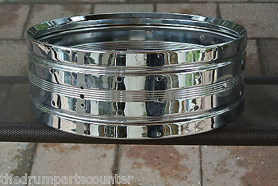 Vintage Rogers Dynasonic Chrome Over Brass Snare Shell For Drum Set Lot #m629