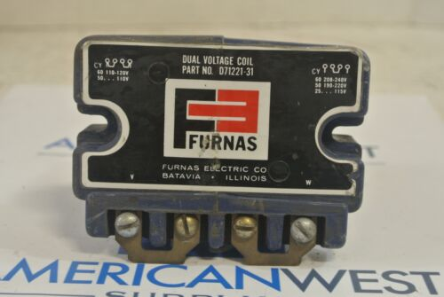 FURNAS D71221-31 Dual Voltage Coil 120 208 240 Volt - USED