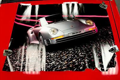 1985 Porsche 959 Showroom Poster Vintage Porsche Dealer Dealership
