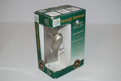 Nostalgic Warehouse 703307 Satin Nickel New York Bed & Bath Privacy Door Set