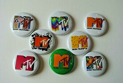 MTV Music Television Rock Band Buttons Pins 80s 90s 1