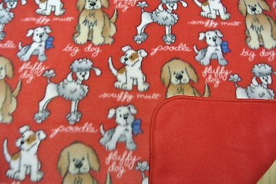 Poodles Fluffy Scruffy Big Dog Blanket Double Side Can Personalize 28x44