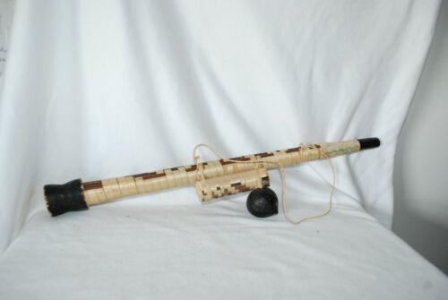 Vintage Antique Folk Art Carved Wood Amazon Tribal Blow Dart Gun Handmade