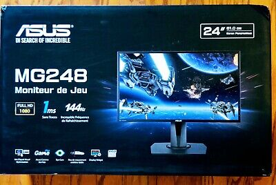 """Asus 24"""" MG248QR 1080HD Gaming Monitor 1ms Trace Free 144Hz Rapid Refresh Rate"""