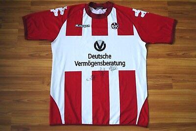 FC KAISERSLAUTERN HOME FOOTBALL SHIRT 2006-2007 MATHIEU BEDA #3 AUTOGRAPHS RARE image