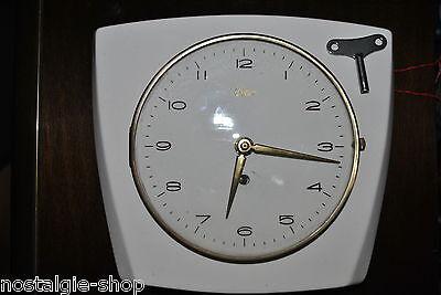 Original 50s/60s Kitchen Clock by URGOS Watch Ceramic, Original 50er/60er RARE