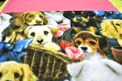 Dog Blanket Cocker Spitz Rottie Husky Beagle Can Personalize Double Sided 28x44