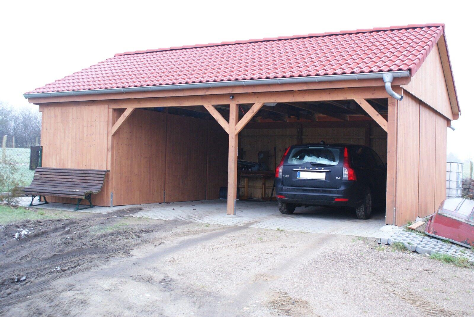 Carport 5 00 x 7 40 m satteldach 15 leimholz si for Carport leimholz
