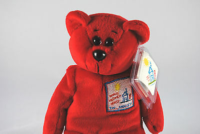 USA RONALD McDonald House Collectable Beanie Bear in Los Angeles Livery