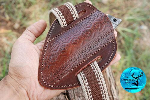HAND MADE PURE COW LEATHER SHEATH FOR FOLDING & FIXED BLADE KNIFE - AJ  941