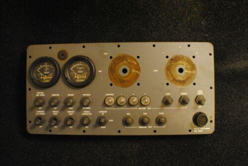Military Memorabilia missile control Instrument Control Panel AUTHENTIC