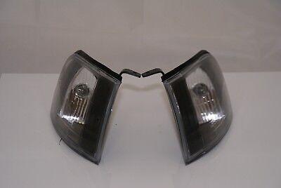 PAIR Of Front Corner / Indicator Lamps RH+LH BLACK For Subaru Impreza 1993-2000