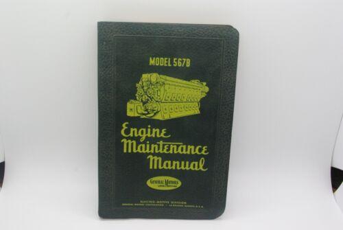 General Motors EMD Engine Maintenance Manual Model 567B
