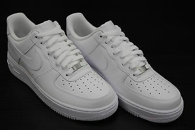 315122 111  New Mens Nike Air Force 1 Low 07 All White   White Wt2