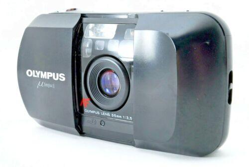 【MINT】Olympus Mju AF 35mm f3.5 Black Compact Camera From Japan #001
