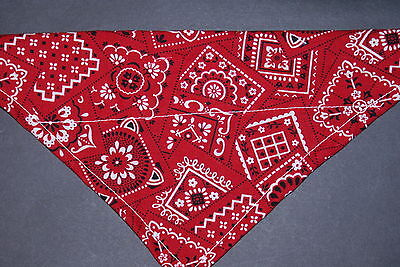 Dog Bandana, OVER THE COLLAR,clothes, pet, Size S,M,L,XL, Red (Traditional Attire)