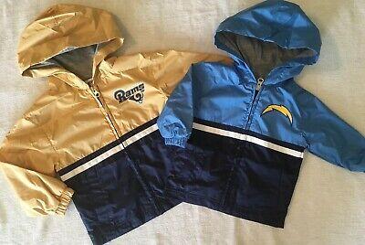 San Diego Chargers (12M, 2T, 3T), Los Angeles Rams (2T, 4T), Infant Windbreaker