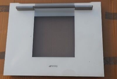 USED  SMEG Single Oven Cooker Outer  Door Glass Panel  WHITE