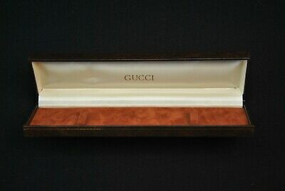 VTG Gucci Watch Box Brown Gold Necklace Display