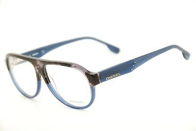 New Authentic Diesel DL 5003 col.050 Grey Marble/Blue 56mm Eyeglasses Frames RX