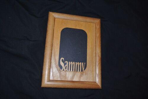 "Oak Picture Name Frame ""Sammy"" Laser cut out"