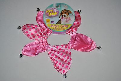 Rubies Pet Shop Boutique Halloween Pink Jester Collar, Sizes S/M, - Pink M&m Halloween Costume