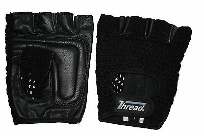 WEIGHTLIFTING,TRAINING GLOVES,REAL LEATHER KNITTEDMESHBACK B