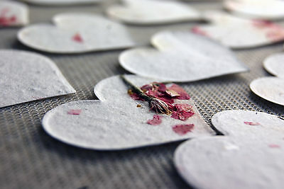 - Pink Heart Shaped Plantable Flower Seed Recycled Paper Wedding Memorial Favors