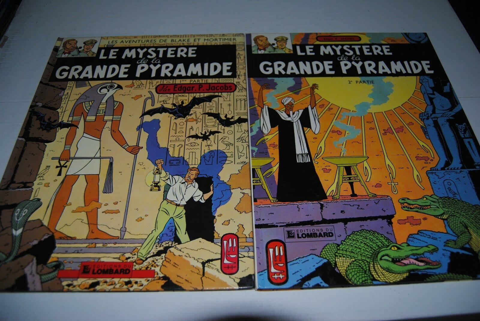 Blake et Mortimer Le mystère de la grande pyramide 2 tomes 1982