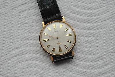 vintage wristwatch LONGINES 17 j cal 8 LN SWISS 10 k gold filled