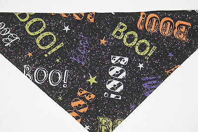 Dog Bandana, OVER THE COLLAR,clothes, pet, Size S,M,L,XL,Halloween Boo!