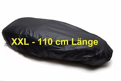 Sitzbankabdeckung schwarz wasserdicht Motorrad Roller 110 x 63cm Sitzbanküberzug