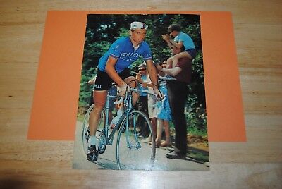 photo cycliste cyclisme grande carte postal cp rik van looy