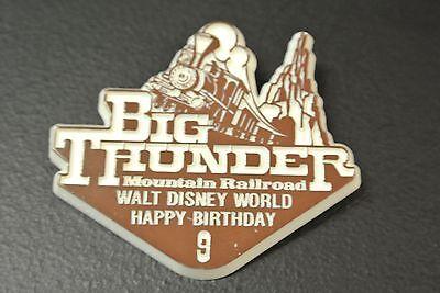 Rare Disney World Ninth 9th Birthday Button Pin Big Thunder Mountain Railroad](Big Birthday Pins)