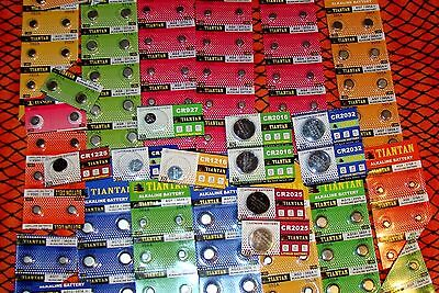 150 Piece Watch battery Assortment Includes 3V Lithium/21 Numbers FREE SHIPPING!