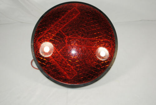 LED Yellow & Red Arrow Street Signal Light Solid Amber Red Dialight GE. *Tested*