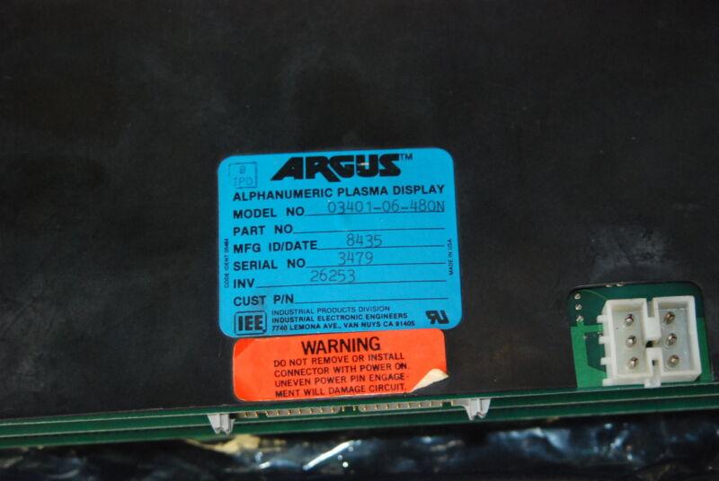 IEE Argus 03401-06-480N, 480 charactor display, Repaired