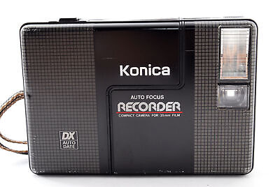 [Exc+5]  Konica Recorder Half Frame 35mm Point & Shoot Film Camera From JAPAN