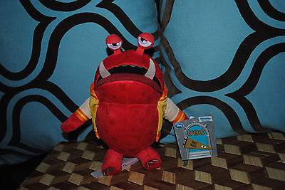 Monsters University JOX Fraternity BIG RED Plush Doll NEW SCARE GAMES Disney NWT