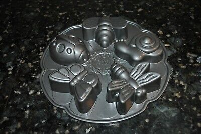 NORDIC WARE Garden BUGS Cupcake Muffin Pan Mold 3 Cups Lady  Bug, Butterfly, Sna Butterfly Cupcake Pan
