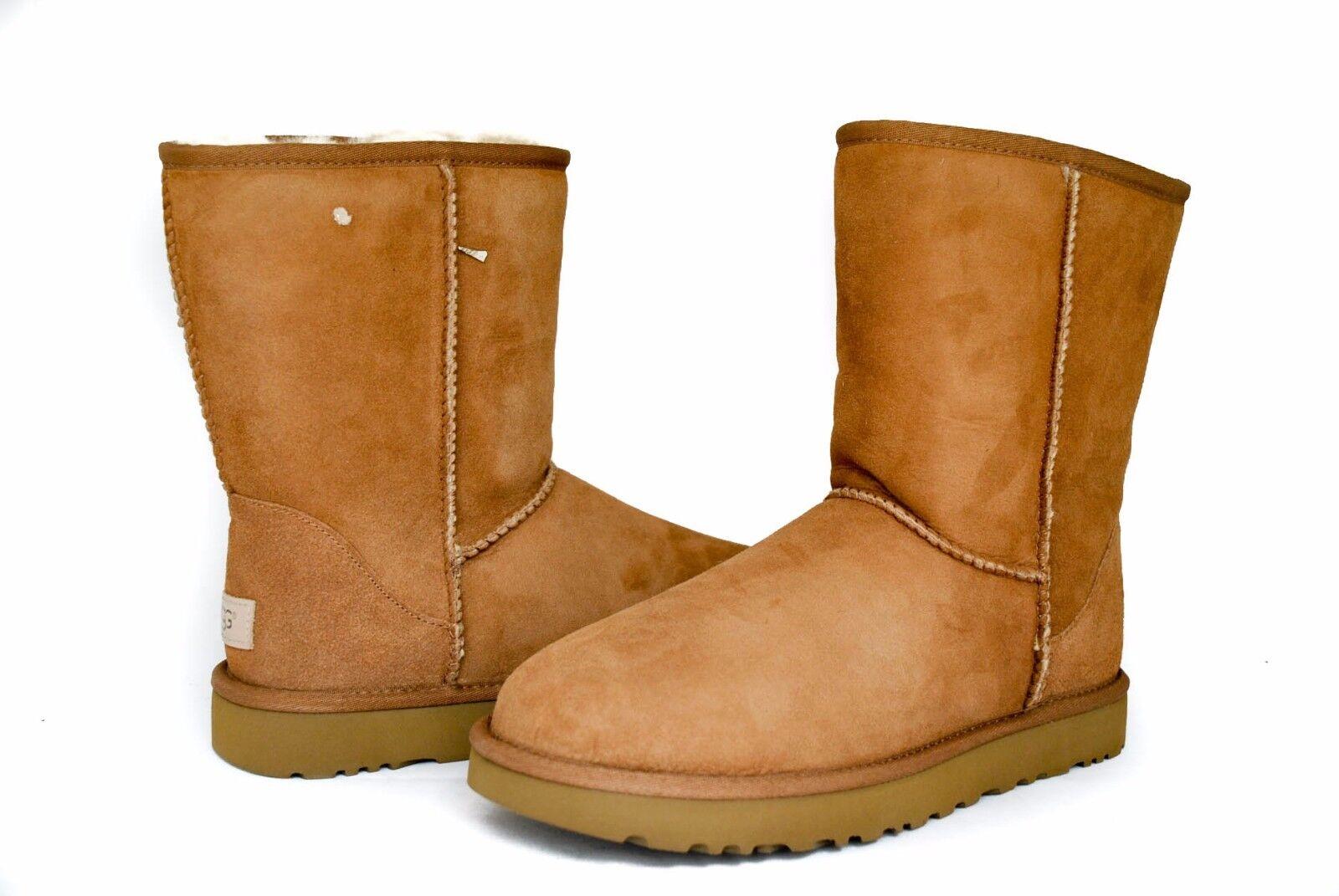 Boots - UGG Women's Classic Short 2 II Boots 1016223 Black Chestnut Grey NEW Version